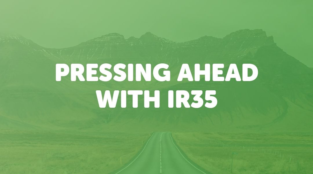 Pressing ahead with IR35